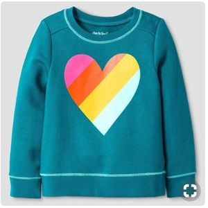 🆕 Listing! Cat & Jack Rainbow Heart Sweatshirt